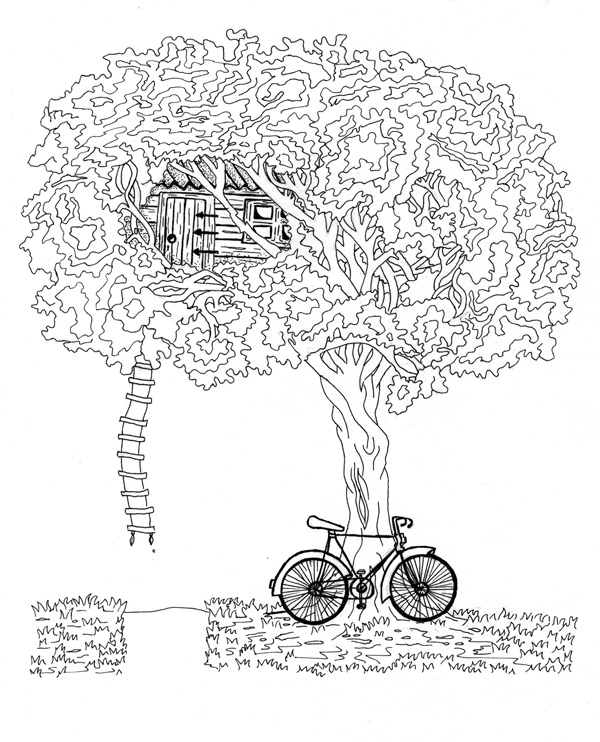 Treehouse-and-Bicycle